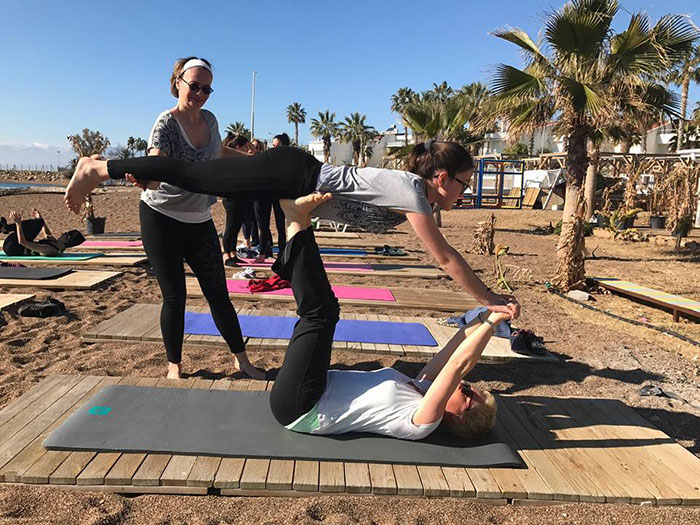 antalya beach yoga riva beach ocak 2017