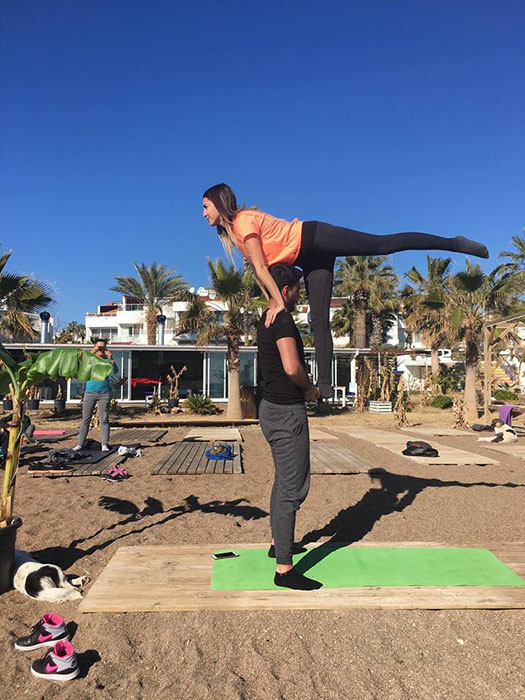 antalya beach yoga riva beach