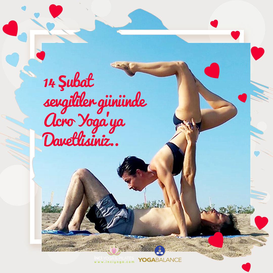 Sevgililer Gününde Acro Yoga